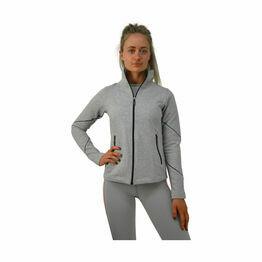 HyFASHION London Edition Sports Fleece - Light Grey/Neon Peach