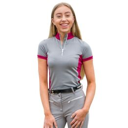 HyFASHION Mizs Arabella Sports Shirt - Pink/Dolphin Grey