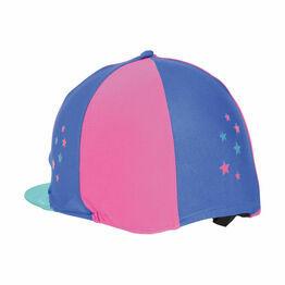 Hy Zeddy Three Tone Lycra Hat Silk - One Size