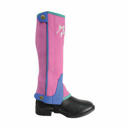 HyLAND Children's Zeddy Three Tone Amara Chaps - Flamingo Pink/Cobalt Blue/Turquoise