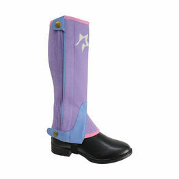 HyLAND Children's Zeddy Three Tone Amara Chaps - Floral Lavender/Petrol Blue/Pink Powder Blush