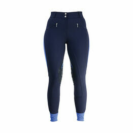 Hy Sport Active Ladies Breeches - Navy/Regal Blue