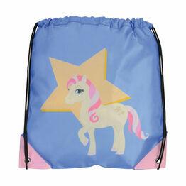 Little Rider Star in Show Drawstring Bag - Regatta Blue - 33 x 43cm