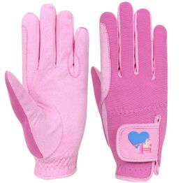 Little Rider Little Show Pony Children's Riding Gloves - Prism Pink/Cameo Pink