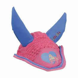 Little Rider Little Show Pony Fly Veil - Cameo Pink/Regatta Blue - Pony/Cob