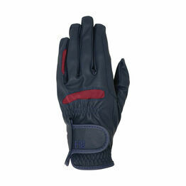 Hy5 Lightweight Riding Gloves - Navy/Burgundy