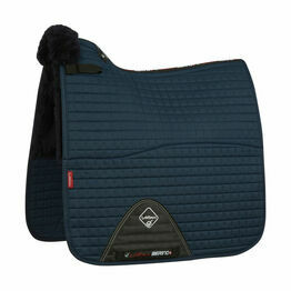 LeMieux Merino+ Half Lined Cotton Dressage Square - Navy/Navy - Large