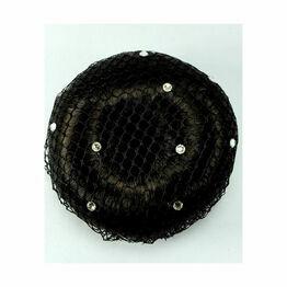 ShowQuest Bun Net with Swarovski Crystals - Pack of 5 - Black