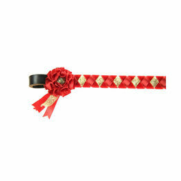 ShowQuest Skipton Brow Band - Red/Red/Gold