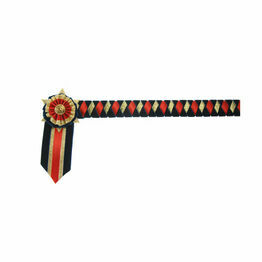 ShowQuest Boston Brow Band - Navy/Red/Gold
