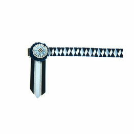 ShowQuest Boston Brow Band - Navy/Pale Blue/Silver
