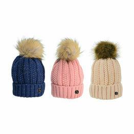 HyFASHION Aspen Metallic Bobble Hat - One Size