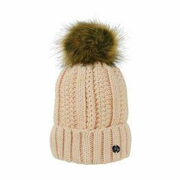HyFASHION Aspen Metallic Bobble Hat - Cream - One Size
