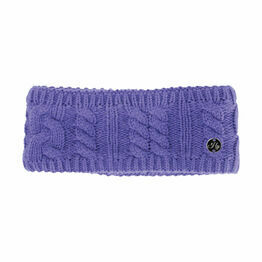 HyFASHION Meribel Cable Knit Headband - Ultra Violet - 24 x 10cm