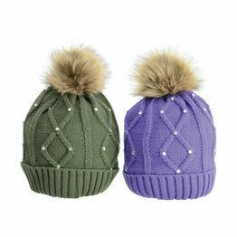 HyFASHION Dakota Diamante Bobble Hat