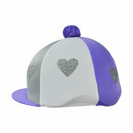 Love Heart Glitter Hat Cover by Little Rider - One Size
