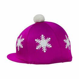 HyFASHION Snowflake with Pom Pom Hat Cover - One Size
