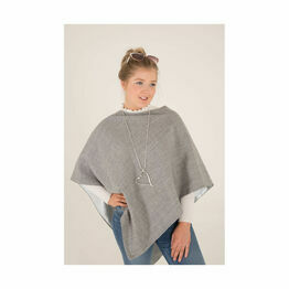 George & Dotty Lily Cape - Light Grey Weave Linen - One Size