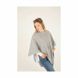 George & Dotty Betsy Cape - Light Fog and Mist Check - One Size