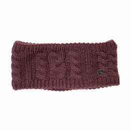 HyFASHION Meribel Cable Knit Headband - Burgundy - 24 x 10cm