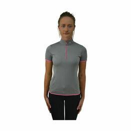 HyFASHION Mizs Passion Sports Shirt - Grey/Lilac Pink