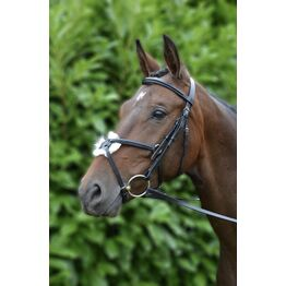 Hy Mexican Bridle with Rubber Grip Reins - Black