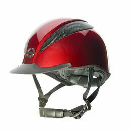 Champion Air-Tech Deluxe Riding Hat Dial Fit - Metallic Ruby