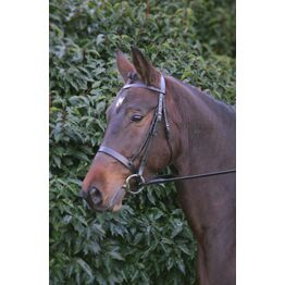 Hy Hunter Bridle with Rubber Grip Reins - Brown