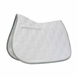 HySPEED Deluxe Pro Saddle Pad - White/Dark Grey/White