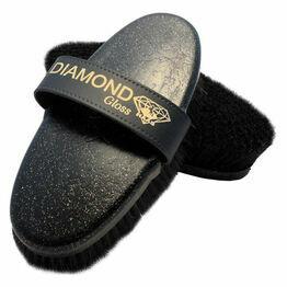 Haas Diamond Gloss Brush - Black Glitter - Irritation Bristles