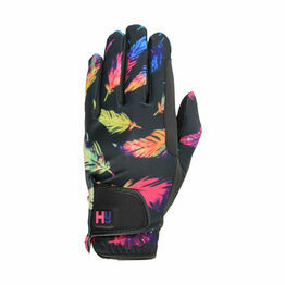 Hy5 Lightweight Printed Riding Gloves - Leaf Pattern