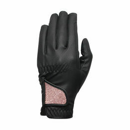 Hy5 Roka Advanced Riding Gloves - Black/Rose Gold