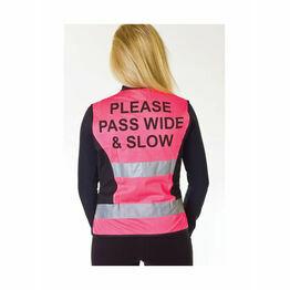 HyVIZ Waistcoat - Please Pass Wide & Slow - Pink/Black