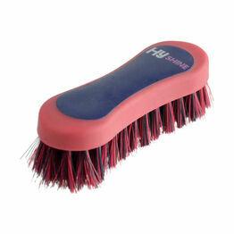 HySHINE Pro Groom Face Brush - Navy/Red