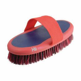 HySHINE Pro Groom Sponge Brush - Navy/Red