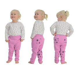 HyPERFORMANCE Star Tots Child's Jodhpurs - Pretty Pink/Blackberry Stars