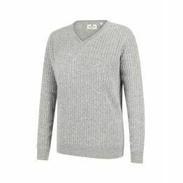 Hoggs Lauder Ladies Cable Pullover - Grey