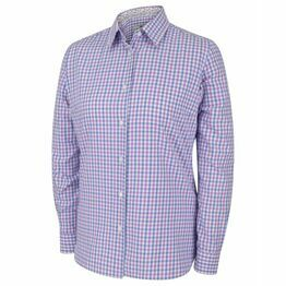 Hoggs Becky II Ladies Cotton Shirt - Pink/Blue Check