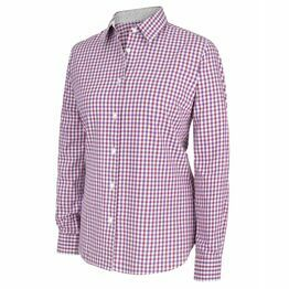 Hoggs Becky II Ladies Cotton Shirt - Violet/Cerise Check