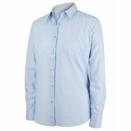 Hoggs Bonnie II Ladies Cotton Shirt - Light Blue Stripe