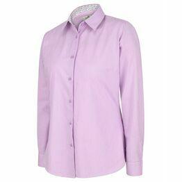 Hoggs Bonnie II Ladies Cotton Shirt - Lavender Stripe