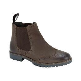 Hoggs Ladies Paddock Brogue Chelsea Boot - Brown