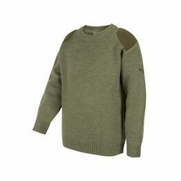 Hoggs Melrose Junior Hunting Pullover - Soft Marled Green