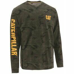Caterpillar Trademark Banner Long Sleeve T-Shirt - Night Camo