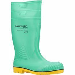 Dunlop Acifort HazGuard Safety Wellington Boot in Green/Black/Yellow