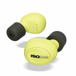ISOtunes IT-12 FREE Industrial Wireless Bluetooth Earbuds in Yellow