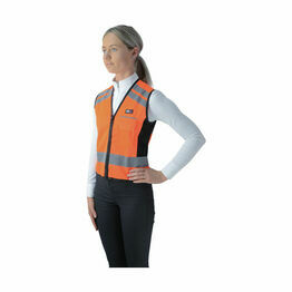 HyVIZ Waistcoat - Please Pass Wide & Slow - Orange/Black