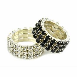 Lincoln Diamante Plaiting Bands - Silver