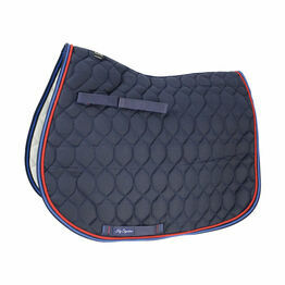 Hy Signature GP Saddle Pad - Navy/Red/Blue