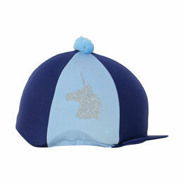 Unicorn Glitter Hat Cover by Little Rider - Navy/Light Blue - One Size
